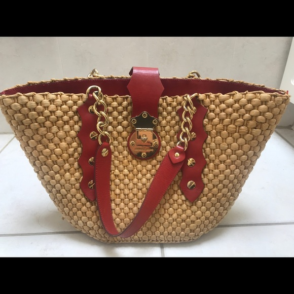 Michael Kors Santorini Straw Bag